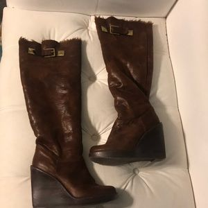 Michael Kors Brown Suede Over the Knee Boots